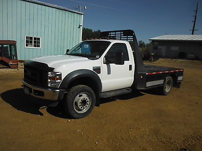 Ford : Other Pickups Work Truck 2008 ford f 550 12 flat bed with toll boxes 6.4 diesel 108000 miles clean