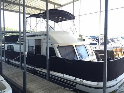 1995 Gibson 37 Ft Sport Series House Boat Fresh Water 380 Hours Sharp See Video