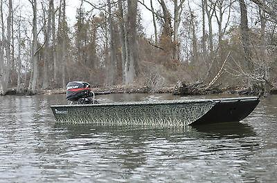 Low Country Backwater Series 1242 camo custom built flat bottom boat