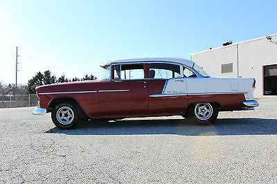 Chevrolet : Bel Air/150/210 1955 CHEVY BEL AIR 1955 chevy bel air 4 door small block th 350 posi mag wheels