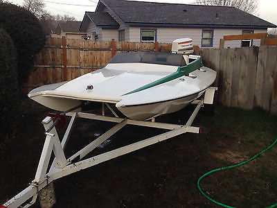 1977 Tunnel Flite 17 ft vintage race boat hydro plane outboard johnson speed