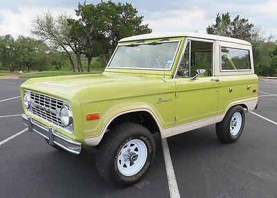 Ford : Bronco Ranger 1974 ford bronco ranger original and uncut 74 445 original miles