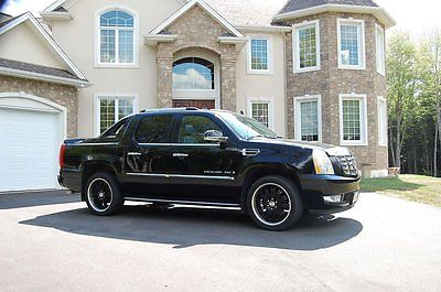 Cadillac : Escalade EXT 2009 black cadillac escalade ext 22 wheels