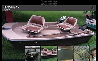 10 ' Bass Fishing Boat Trolling motor Oars Lake READY!