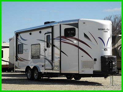 2014 Forest River Work and Play 21VFB Toy Hauler New TRAVEL TRAILER RAMP DOOR
