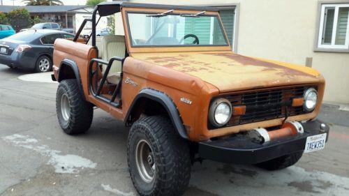 Ford : Bronco wagon early bronco