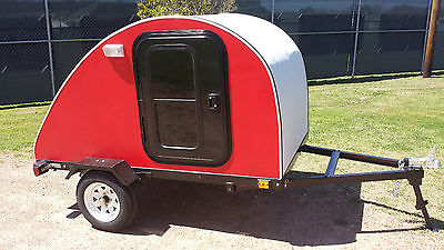 Custom 2015 4x7 Teardrop Camper Trailer