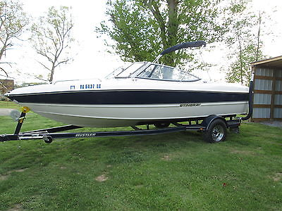 2013 STINGRAY 195lx 20 ft Pleasure Boat 4.3 Mer Inboard Motor w/ Hustler Trailer