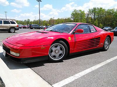 Ferrari : Testarossa Base Coupe 2-Door 1987 ferrari testarossa base coupe 2 door 4.9 l