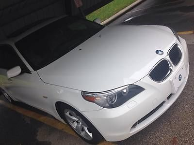 BMW : 5-Series 530i BMW 530i Base Sedan 4-Door 3.0L white with Tan Interior GREAT CONDITION!