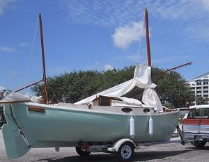 1992 Elver canoe yawl 20ft wooden sail boat