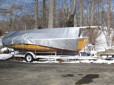 1975 Catalina 22 Pop Top Sailboat and Trailer - Project