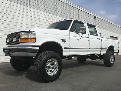 Ford : F-250 XLT **L@@K** LIFTED 1996 FORD F250 CREW XLT 4X4 SHORTBED 7.3 POWERSTROKE DIESEL