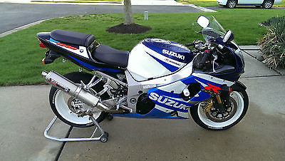 Suzuki : GSX-R 2001 suzuki gsx r 1000 white blue excellent condition cleanest around