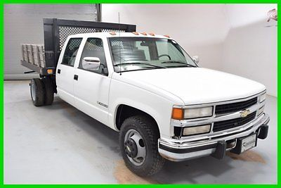 Chevrolet : C/K Pickup 3500 3500 Dually Diesel Crew cab Truck Dump bed Hoist FINANCING AVAILABLE!! 117k Mi Used 2000 Chevy C3500 RWD 8 Cyl Flat bed DRW