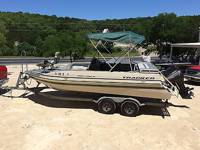 1999 21' Tracker Deck Boat w/ 120 Merc Force 'One Owner w/ Owner's Manuals'