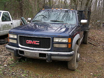 GMC : Sierra 3500 extended cab 94 gmc k 3500 extended cab flat stake bed with dump