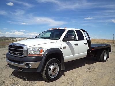 Dodge : Ram 5500 Flat Bed Dually 2008 dodge ram sterling 5500 crew flat bed 4 x 4 make offer