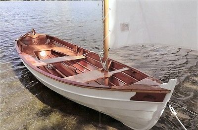 14 FOOT PENOBSCOT WOOD SAILING & ROWING DINGY-- NEW CONSTRUCTION CLASSIC BEAUTY