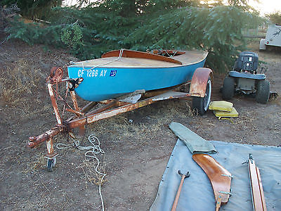 1958 Varalyay Snipe sailboat boat wooden w/'glass hull vintage rare with trailer