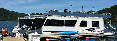 1997 Myacht Houseboat 45' Cabin Cruiser, Twin Outboard Motors & Trailer