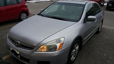 Honda : Accord ex 2007 honda accord silver color with black interior