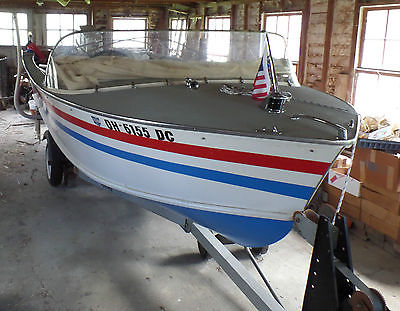 1962 Gold Coast Clipper 16' Wood Boat with 1988 48 HP Johnson Motor and Trailer