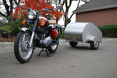 Motorcycle Tow Behind Small Cargo Trailer All Stainless Steel Teardrop