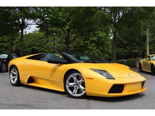 Lamborghini : Murcielago Roadster ROADSTER, 1-OWNER, EGEAR, LOW MILES, HERCULES WHEELS, YELLOW STITCHING, WOW!