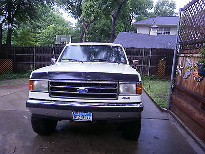 Ford : Bronco XLT 1990 full size white ford bronco 5.8 l 351 ci fuel injected