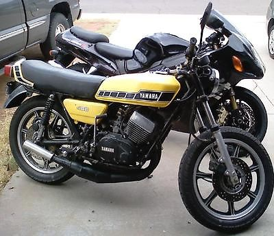 Yamaha : Other 1977 yamaha rd 400 yellow some 78 parts solid mount brakes air cooled 2 stroke