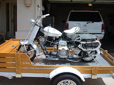 Cushman : Eagle 8 HP 1957 cushman eagle model 765 show bike with custom trailer 8 horse power husky