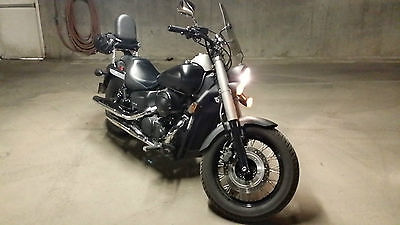 Honda : Shadow Cool 2012 Matte Black Phantom w/ extras!