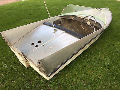 Extremely Rare 1958 Crestliner Jet Streak 12ft 2 Person Aluminum Boat