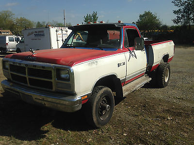 Dodge : Ram 2500 4x4 cummins turbo diesel 1993 dodge 2500 4 x 4 dually 5.9 cummins turbo diesel engine 5 speed manual stick