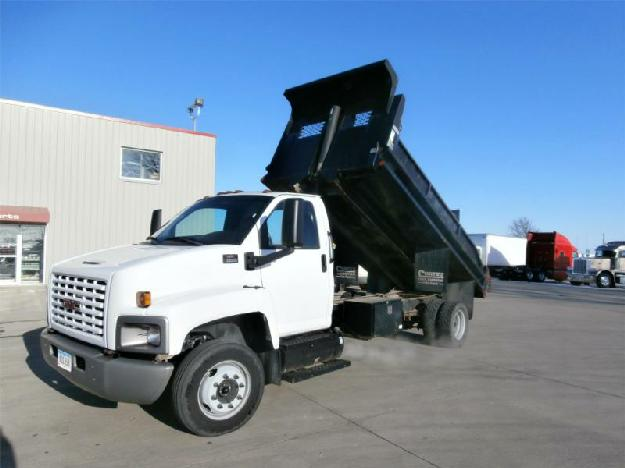 Gmc t6500 flatbed dump truck for sale