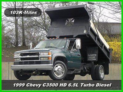Chevrolet : C/K Pickup 3500 Dump Truck 1999 chevrolet c 3500 hd regular cab mason dump truck 6.5 l turbo diesel chevy ac