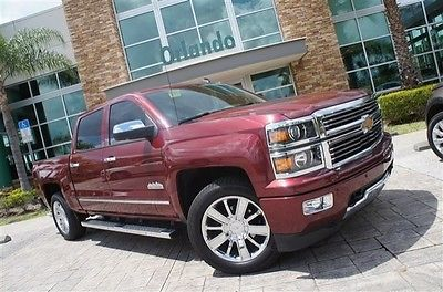 Chevrolet : Silverado 1500 High Country 2014 chevy silverado high country ruby red only 8 k miles new body style loaded