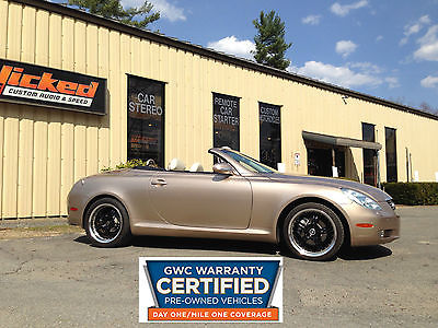 Lexus : SC SC430 Hardtop Convertible CERTIFIED GWC WARRANTY Lexus SC430 Convertible CERTIFIED GWC 90 DAY WARRANTY V8 CLEAN CAR-FAX 2 Owners
