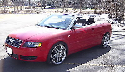 Audi : Cabriolet S4 Cabriolet 2004 audi s 4 cabriolet quattro red with black interior