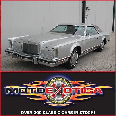 Lincoln : Continental Low miles 1977 lincoln continental low actual miles original interior get out drive
