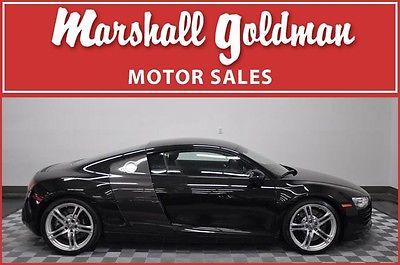 Audi : R8 4.2L 2010 audi r 8 v 8 coupe 6 speed manual black black leather nav 16700 miles