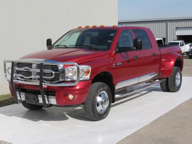 Dodge : Ram 3500 MEGA 6spd 08 ram 3500 laramie 6.7 mega cab cummins 6 spd manual carfax infinity jakes tx