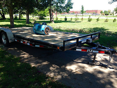 Car Trailer, PJ, 20 ft with ramps