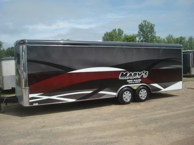 BRAND 2013 NEW UNITED 24' ENCLOSED WRAPPED TRAILER