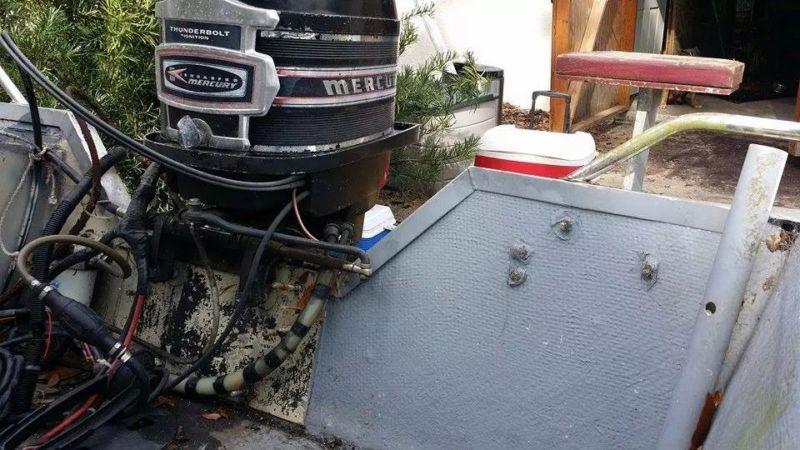 15ft fiber glass center console boat