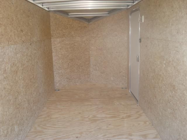 2015 6X12 PLUS 2' SLOPED NOSE ALUMINUM ENCLOSED TRAILER