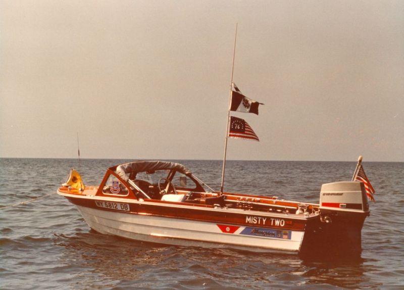 1966 THOMPSON 13ft SEAMATE ANTIQUE WOOD BOAT w/ TRAILER