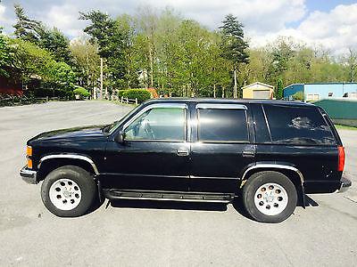 Chevrolet : Tahoe LS 1996 chevrolet tahoe black 4 door suv 4 x 4 yukon chrome custom