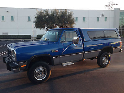 Dodge : Ram 2500 LE 1993 dodge ram w 250 cummins turbo diesel 4 x 4 auto one owner